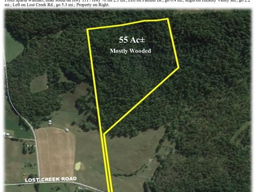 55 Ac Mostly Wooded - In 1 Tract : Sparta : White County : Tennessee