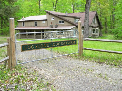 Log And Stone Lodge, Smyrna Ny : Smyrna : Chenango County : New York