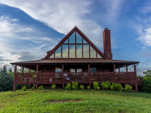 Custom Built Log Home W/Lake View : Dandridge : Jefferson County : Tennessee