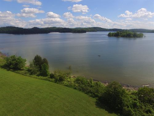 Level Cherokee Lake Front Lot : Mooresburg : Hawkins County : Tennessee