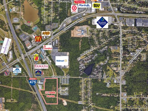 27.948 Ac Commercial Land For Sale : Macon : Bibb County : Georgia