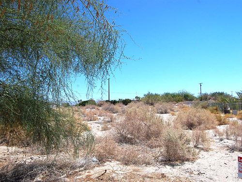 Large Lot In Desert Oasis : Mecca : Riverside County : California