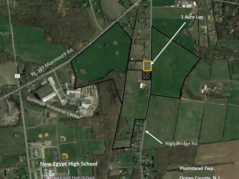 1 acre building lot in new egypt land for sale new for Build on your lot new jersey