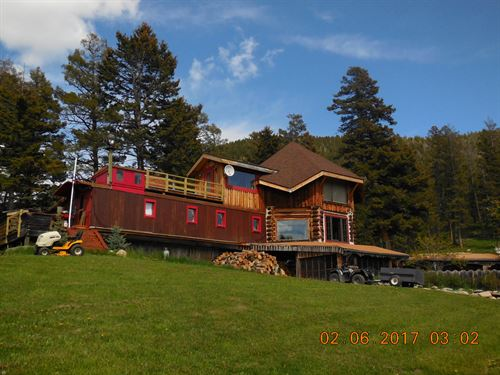 Caboose Hill Station : Wilsall : Meagher County : Montana