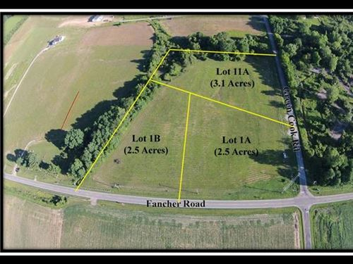 3.2 Acre Building Lot With Creek : New Albany : Delaware County : Ohio