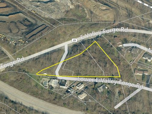 2.9 Acres Selling Absolute : King Of Prussia : Montgomery County : Pennsylvania