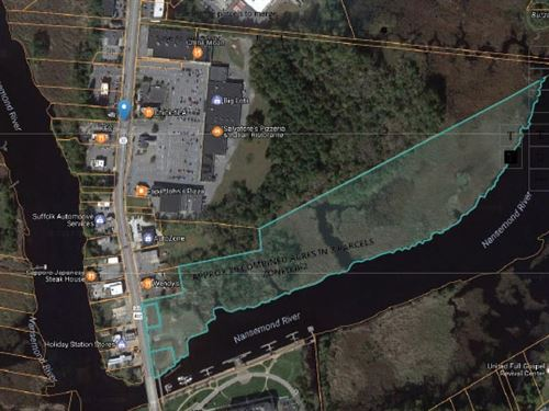 Commercial Land On Nansemond River : Suffolk : Suffolk City County : Virginia