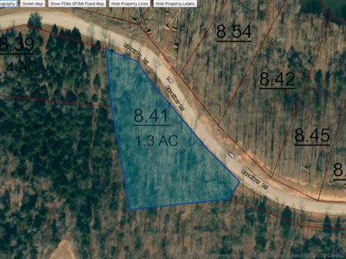 Water View Lot On Private Lake : Cedar Grove : Carroll County : Tennessee