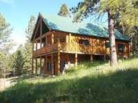 Log Home On 4 Wooded Acres : Newcastle : Weston County : Wyoming