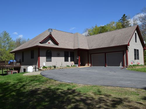 Custom Country Home W/ Acreage : Chesterville : Franklin County : Maine