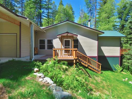 House On Acreage With Lake Access : Columbia Falls : Flathead County : Montana