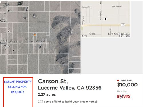 2.27 Acres In Lucerne Valley, CA : Lucerne Valley : San Bernardino County : California