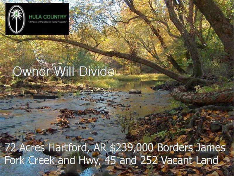 James Fork Creek Frontage : Hartford : Sebastian County : Arkansas