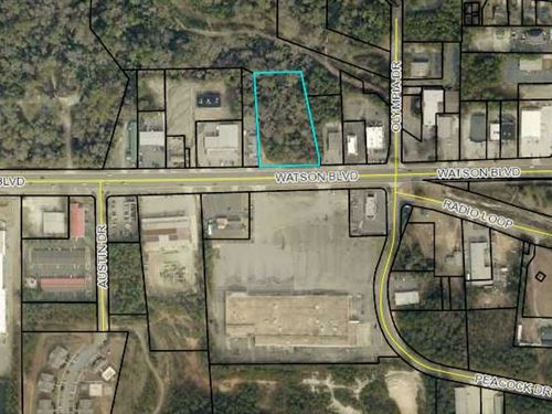Wooded Commercial Lot : Warner Robins : Houston County : Georgia
