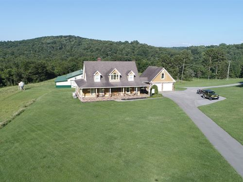 House & 68 Acres. Very Private : Somerset : Pulaski County : Kentucky