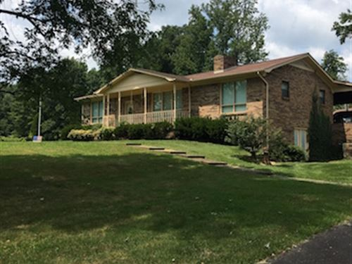 Spacious Brick Home On 16 Acres : Dresden : Weakley County : Tennessee