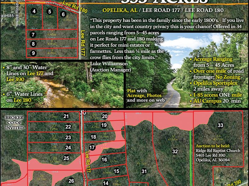Murphy McGinty Family Of Acreage : Opelika : Lee County : Alabama
