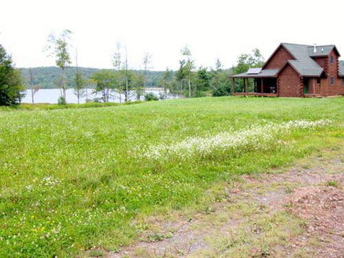 1,034 Acres Land, Custom Log Home : Lopez : Sullivan County : Pennsylvania