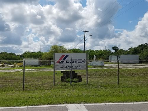 7.59 Acre Industrial Property : Lakeland : Polk County : Florida