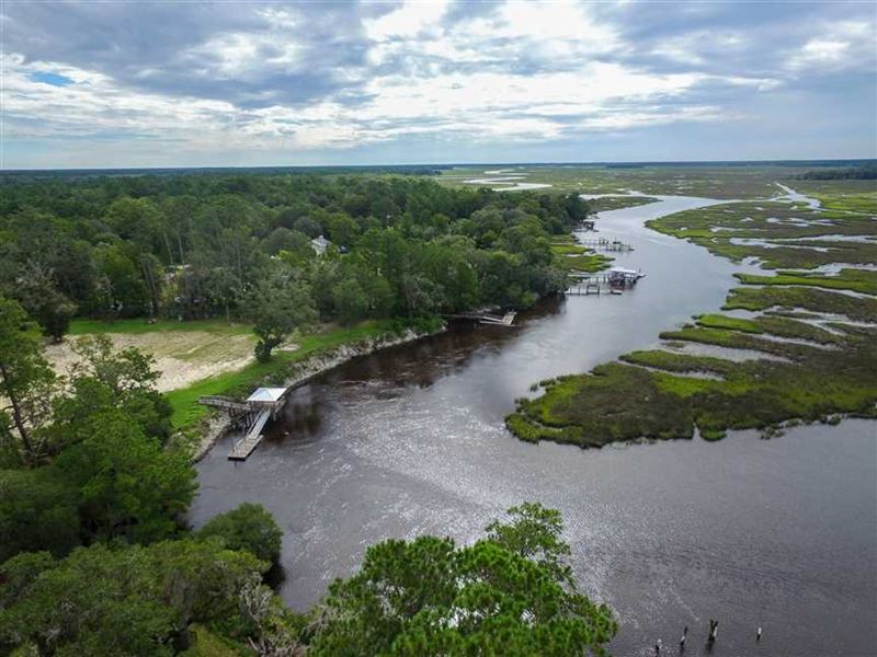 Waterfront Land For Sale in Camden : Woodbine : Camden County : Georgia