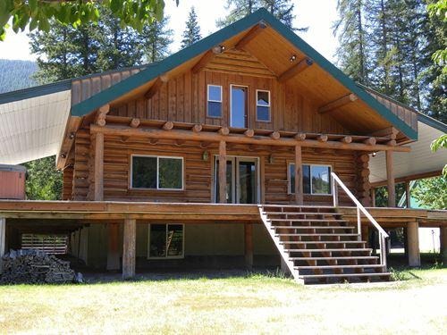 Kootenai Riverfront Home : Libby : Lincoln County : Montana