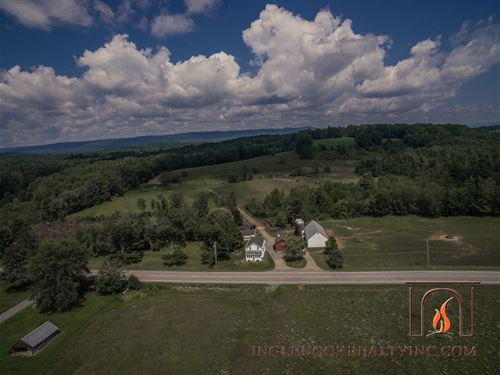 Beautiful Farm With Stream & Views : Mayfield : Fulton County : New York