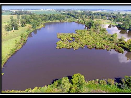 13.39 Acres With 7.5 Acre Lake : West Liberty : Logan County : Ohio