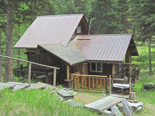 Secluded Cabin Engulfed In Meadows : Marion : Flathead County : Montana