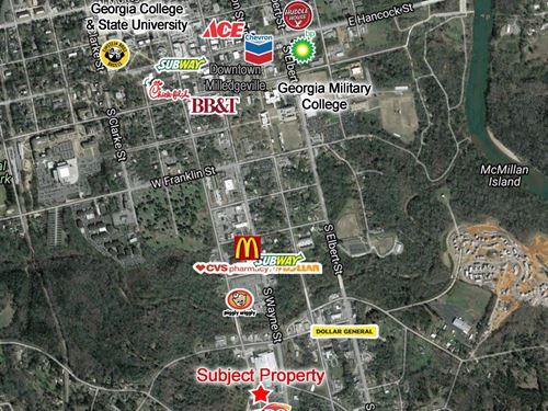 Commercial Corner Lot - 5.77 Acres : 941 S. Wilkinson Street : Baldwin County : Georgia