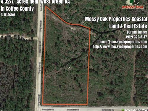 4+/- Acres Lot Near West Green, Ga : West Green : Coffee County : Georgia