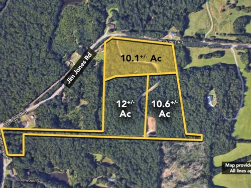 10.1+/- Ac Of Land On Jim Jones : Tuscaloosa : Alabama