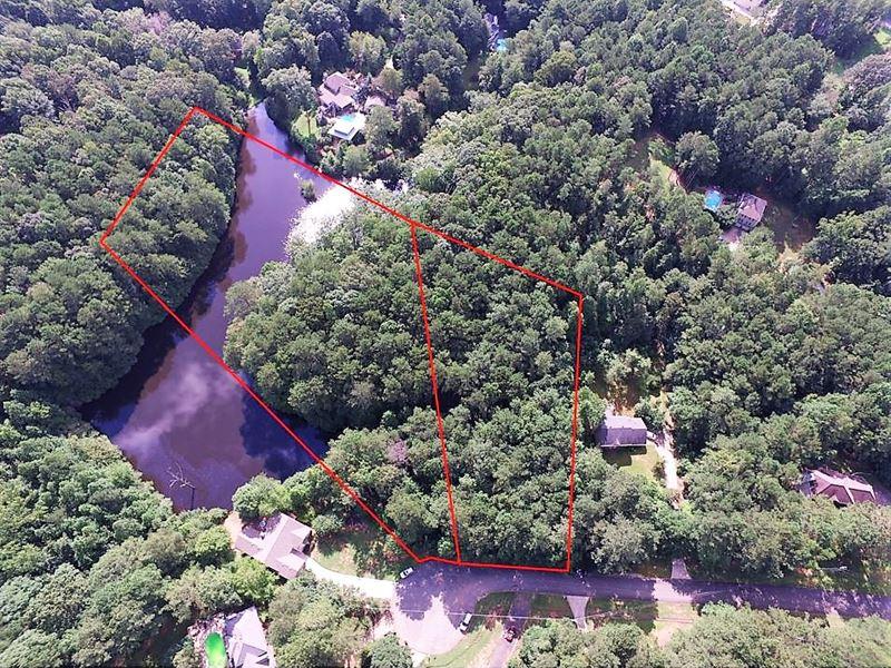 Beautiful Land With Pond : Acworth : Paulding County : Georgia