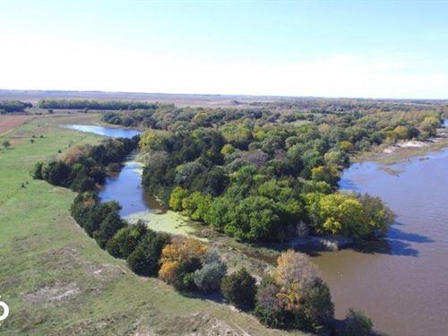 Antelope County Big Buck River With : Neligh : Antelope County : Nebraska