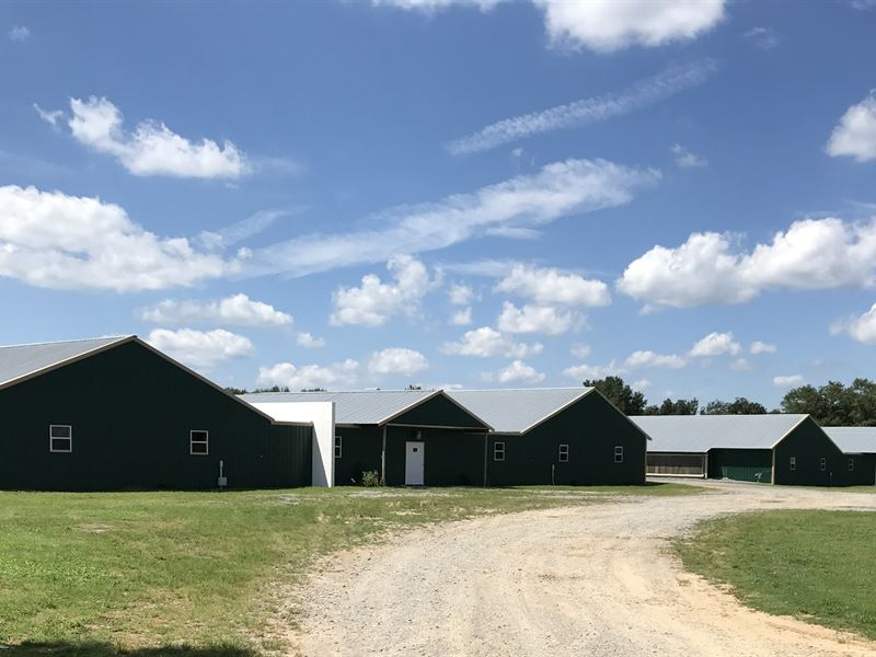 4 House Breeder Farm On 74+/- Acres : Boaz : Marshall County : Alabama