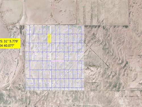 Level Desert Lot In Sw Sunsites : Van Horn : Culberson County : Texas