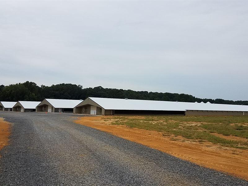 Marshall Farm- 4 Broiler House Farm : Boaz : Marshall County : Alabama