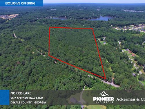 56.2 Acres Norris Lake Drive : Lithonia : Dekalb County : Georgia