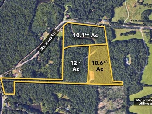 10.6+/- Ac Of Land On Jim Jones : Tuscaloosa : Alabama