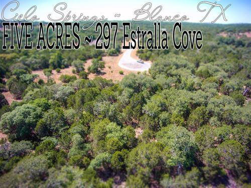 5.07 Acres In Blanco County : Blanco : Texas