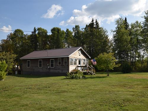 Katahdin Region Home W/ Acreage : Patten : Penobscot County : Maine