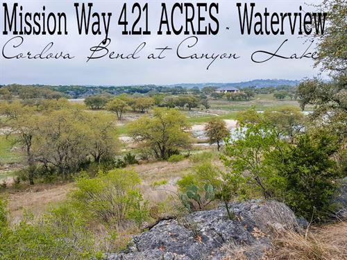 4.21 Acres In Comal County : Canyon Lake : Comal County : Texas