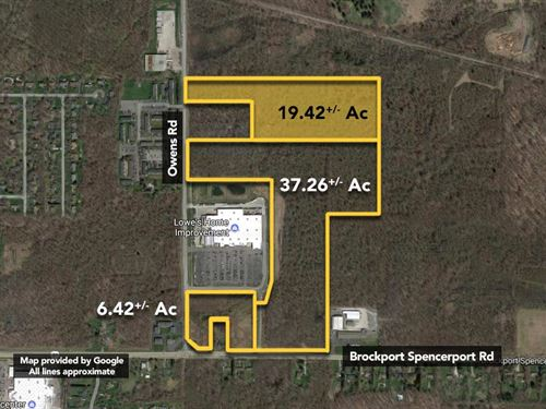 19.42 ac Lowe's Outparcel. : Brockport : Monroe County : New York
