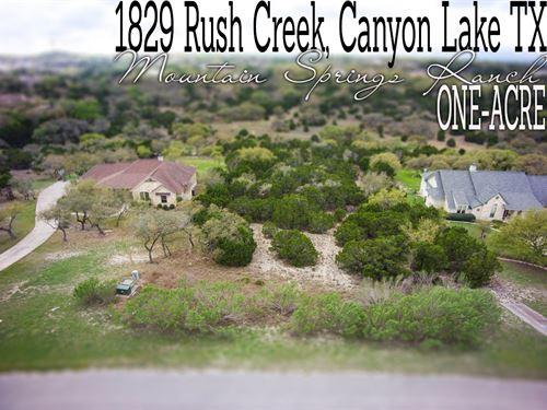 1.02 Acres In Comal County : Canyon Lake : Comal County : Texas