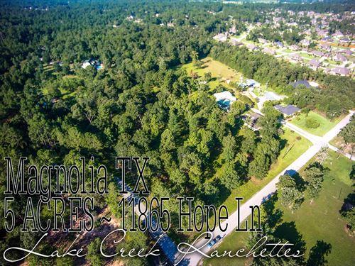 5 Acres In Montgomery County : Magnolia : Montgomery County : Texas