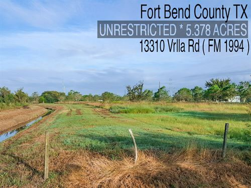 5.38 Acres In Fort Bend County : Guy : Fort Bend County : Texas