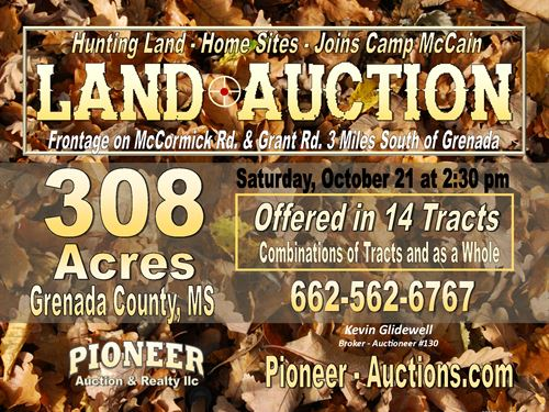 Auction -Hunting Land - Home Sites : Grenada : Mississippi