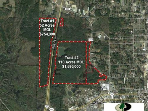 Tract 1 - 52 Acres of Prime Comme : Philadelphia : Neshoba County : Mississippi
