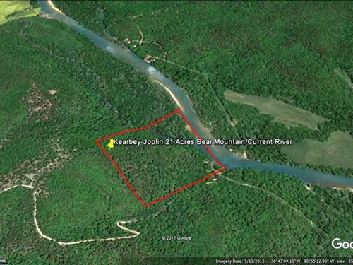 21 Acres Current River Frontage Fo : Grandin : Ripley County : Missouri