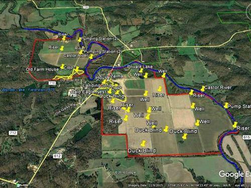 1100 Acre Farm For Sale in Bol : Zalma : Bollinger County : Missouri