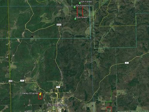 80 Acres For Sale in Carter County : Ellsinore : Carter County : Missouri